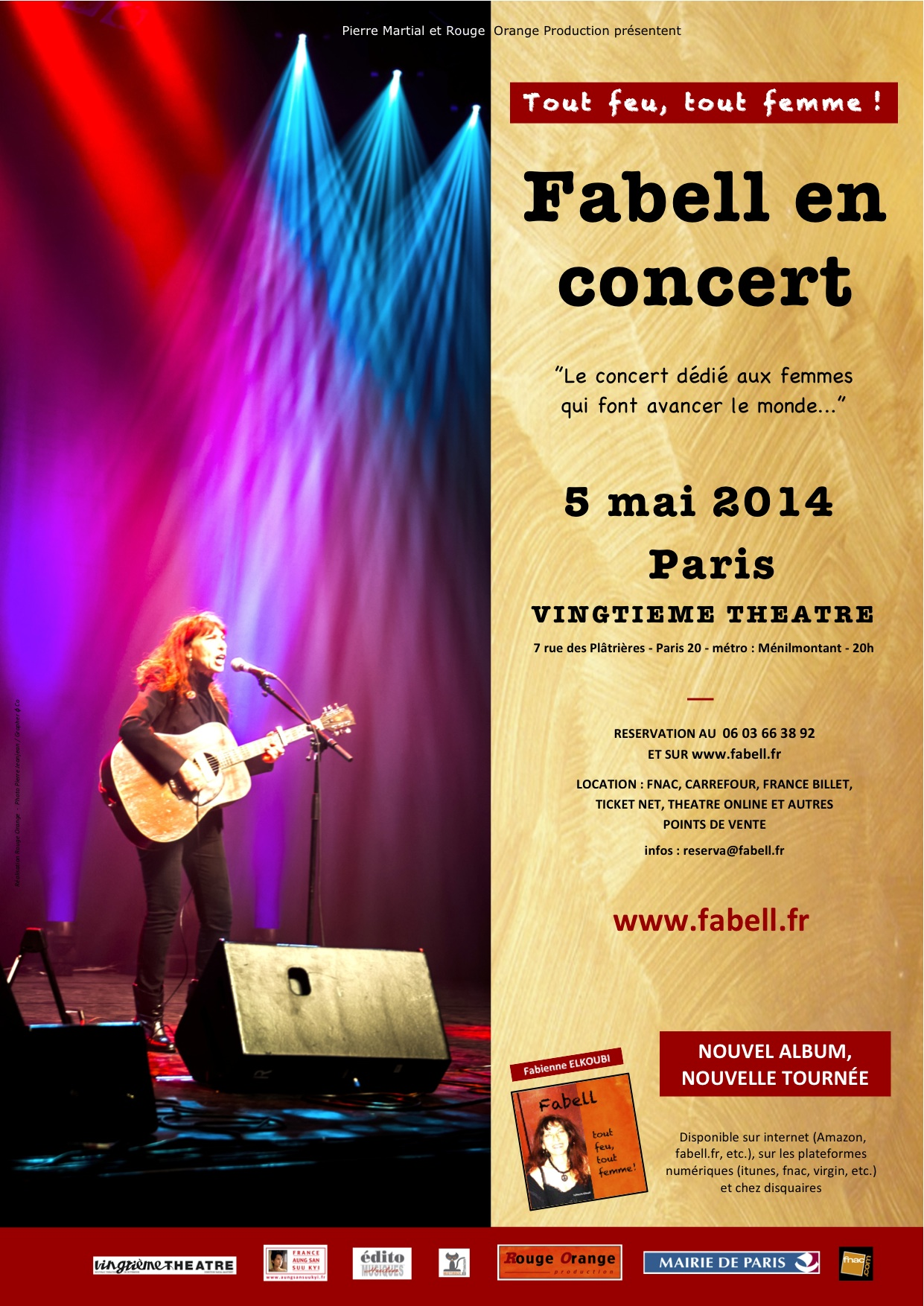 L'affiche collector du concert  © Rouge Orange